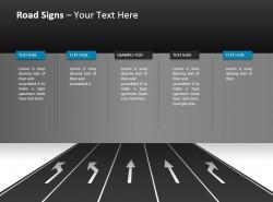 五车道分向行驶提示PPT模板