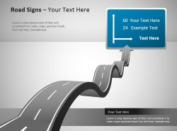 起伏的公路powerpoint模板素材下载