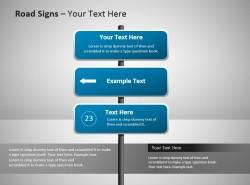 三项提示导航路标Powerpoint模板下载