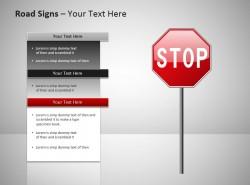 禁止通行路标PPT模板免费下载