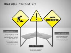 道路警示标志ppt模板