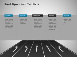 五车道分向行驶路标powerpoint模板免费下载