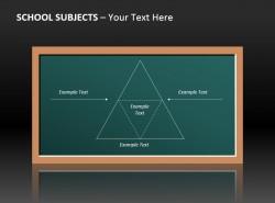 数学课黑板PP模板免费下载