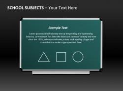 数学课堂小黑板PPT模板下载