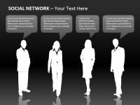 扁平化的商务人物Powerpoint模板下载