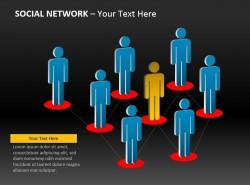 社交网络的中心PPT下载