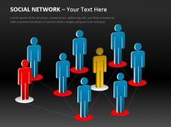 社交网络分布图Powerpoint下载