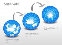 递进式三部分地球拼图