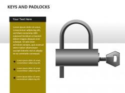 钥匙和U型锁