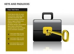 钥匙与公文包锁
