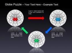 地球之谜三部分循环拼图说明