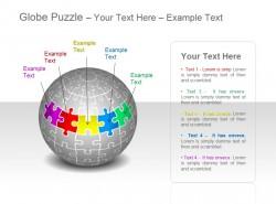 地球谜题之五部分彩色拼图