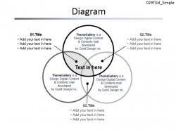 三环相扣图解PPT模板免费下载