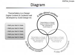 三部分圆形图解PPT素材下载