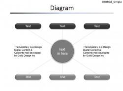 总分关系图示说明PPT素材下载 | PPT设计教程网