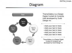 六部分循环图示PPT素材下载
