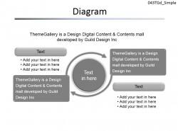 两部分循环图示PPT素材下载