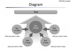 多因素箭头指向图解PPT模板下载