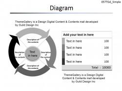 箭头循环图示PPT模板下载