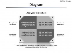 四部分卷边便签PPT素材下载 | PPT设计教程网