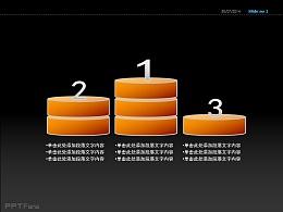 圆饼柱状图PPT模板免费下载