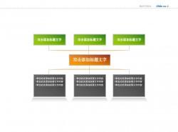 三部分对应树状图PPT素材下载