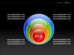 彩色螺旋四部分说明PPT素材下载