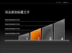 数字递增四部分说明PPT模板下载
