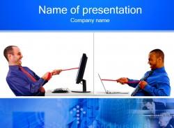 电脑科技人物插图PPT素材下载