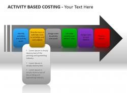 成本核算彩色六方框PPT模板下载