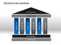 简单构建建筑结构图PPT模板下载