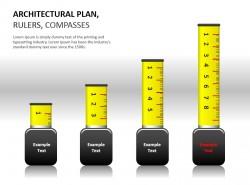 建筑规划之立体直尺PPT模板下载