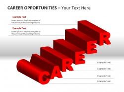 CAREER鲜红立体字母PPT素材下载