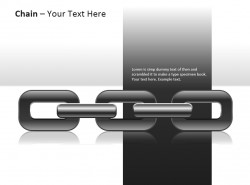 立体三部分大锁链插图PPT模板下载