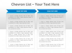 Chevron公司列表两部分PPT模板下载