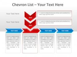 Chevron公司列表之红色箭头指向文本PPT模板下载