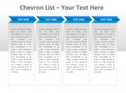 Chevron公司列表四部分PPT模板下载