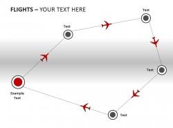 回到原点飞行轨迹图PPT模板下载
