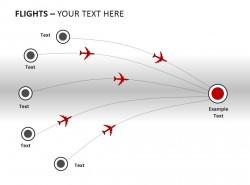 回到终点飞行轨迹图PPT模板下载