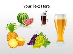 新鲜水果与果汁插图PPT素材下载