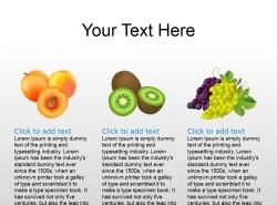 桃、猕猴桃、葡萄插图PPT素材下载