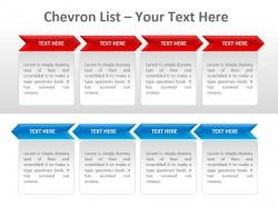 红蓝两排排列Chevron公司列表PPT模板下载