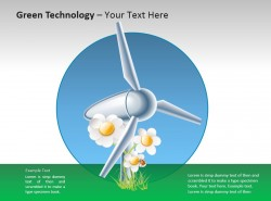 绿色技术之特色风车PPT素材下载