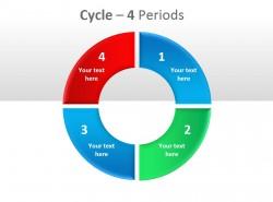 个性三色四周期循环插图PPT模板下载