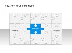 方形拼图PPT模板下载