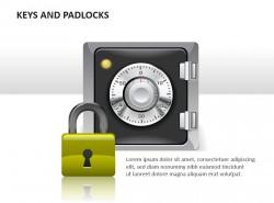 锁和保险箱PPT模板下载