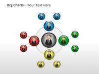 人物组织结构图PPT模板下载