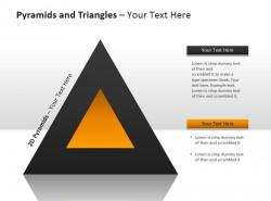 金字塔和三角形全彩图PPT模板下载