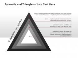 金字塔和三角形图示PPT模板下载
