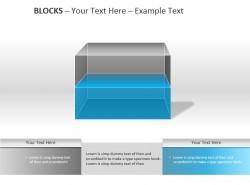 透明彩色两方格PPT模板下载